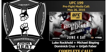 UFC 199 Pre-Fight Call: Rockhold, Bisping, Cruz + Faber Talk Sh*t, Just As Expected (complete)