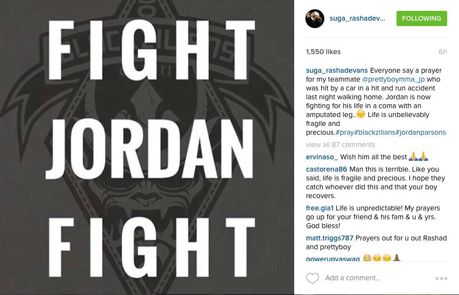 Bellator MMA Fighter Jordan Parsons Has Leg Amputated Following Hit-And-Run; Police Need Help