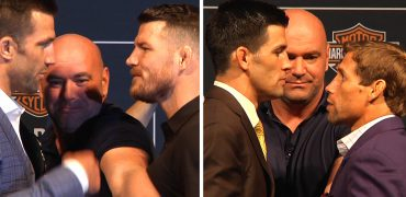 UFC 199 Staredowns! Cruz + Faber Talk Smack; Rockhold + Bisping Get In Each Other's Faces!