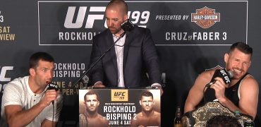 UFC 199: Rockhold + Bisping Continue The Verbal Assault On Each Other At Post-Fight Presser