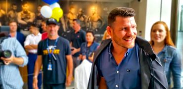 Newly Crowned UFC Champ Michael Bisping Gets Hero's Welcome At FS1