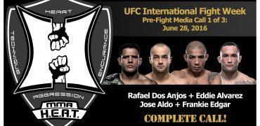 UFC International Fight Week Media Call: Dos Anjos, Alvarez, Aldo and Edgar (complete / unedited)