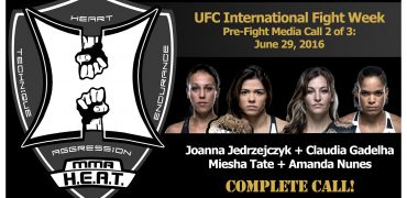 UFC International Fight Week Media Call: Jedrzejczyk, Gadelha, Tate and Nunes (complete / unedited)