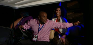 UFC Champ Daniel Cormier Drives Golf Cart, Crashes Champ Joanna Jedrzejczyk's Q&A With FS1's Karyn Bryant