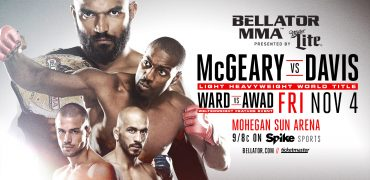 "Bellator MMA Light Heavyweight Champ Liam McGeary Set To Face Phil ""Mr Wonderful"" Davis at Bellator 163"