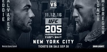 Alvarez vs McGregor Headlines UFC 205 at Madison Square Garden in New York City