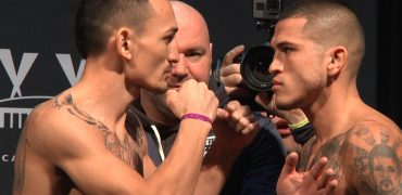 UFC 206: Max Holloway vs Anthony Pettis Weigh-In + Staredown (HD)