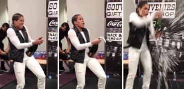 UFC Women's Bantamweight Champ Amanda Nunes Celebrates UFC 207 Ronda Rousey TKO