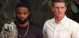 (360° VR / 4K) UFC Welterweight Champ Tyron Woodley + Stephen Thompson Talk UFC 209 Rematch