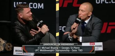 Michael Bisping Throws Verbal Jabs At George St-Pierre During UFC Press Conference