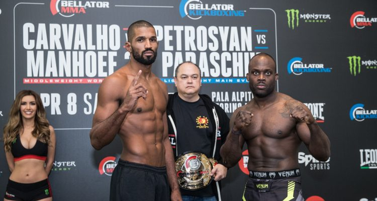 2017-04-07 Bellator 176 - Middleweight World Title Bout: Rafael Carvalho (184.4 lbs.) vs. Melvin Manhoef (184.5 lbs.)