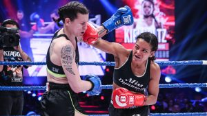 Denise Kielholtz (46-3) defeated Martine Michieletto (18-11-3) via Unanimous Decision (50-45, 49-46, 49-46)