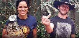 (360° VR / 4K) UFC Bantamweight Champion Amanda Nunes + Donald Cerrone UFC 213 Media Q&A
