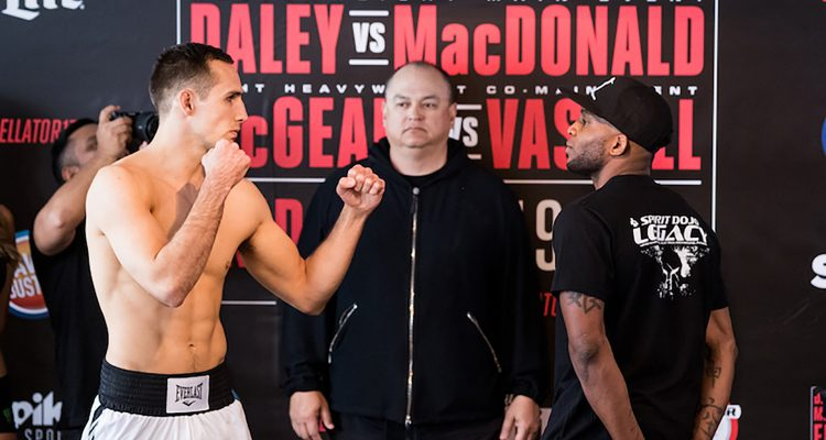 Bellator 179: Daley vs MacDonald Weigh-in (photos)