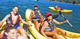 (360° 4K / VR) Father's Day 2017: Kayaking On Lake Arrowhead
