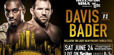Bellator 180: Phil Davis vs Ryan Bader (LHW Championship)