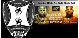 UFC 214: Cormier vs Jones 2, Woodley vs Maia, Cyborg vs Evinger – Media Call (LIVE!)