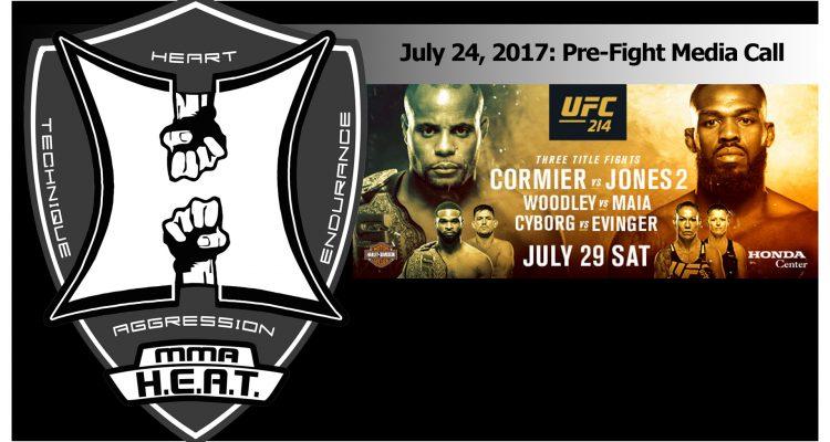 UFC 214: Cormier vs Jones 2, Woodley vs Maia, Cyborg vs Evinger - Media Call (LIVE!)