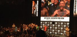 (360° VR / 4K) Floyd Mayweather vs Conor McGregor Weigh-In + Staredown / Fan Experience