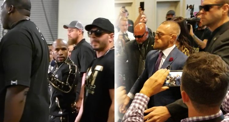 Floyd Mayweather & Conor McGregor Arrivals At T-Mobile Arena Before Their Superfight!