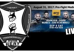 UFC 215: Johnson vs Borg + Nunes vs Shevchenko 2 - Media Call (LIVE!)