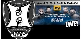 UFC 215: Johnson vs Borg + Nunes vs Shevchenko 2 – Media Call (LIVE!)
