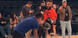 (360° VR / 4K) UFC 217: Champ Cody Garbrandt Shows Off Skills At MSG Before Fighting Dillashaw