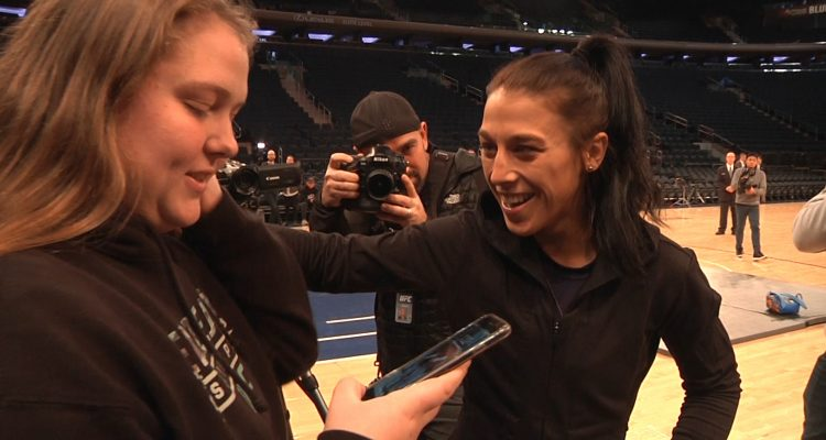 UFC 217: Champ Joanna Jedrzejczyk Shows Off Skills At Open Workout + Greets Adoring Fans