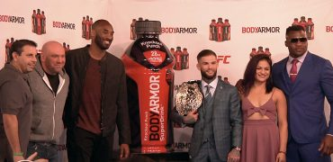 UFC's Dana White, Garbrandt, NGannou + Calvillo Join Kobe Bryant For BODYARMOR Reveal