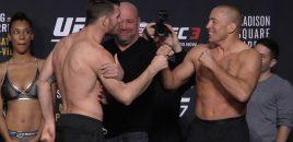 (360° VR / 4K) UFC 217: Bisping/St-Pierre + Garbrandt/Dillashaw + Jedrzejczyk/Namajunas Weigh-ins
