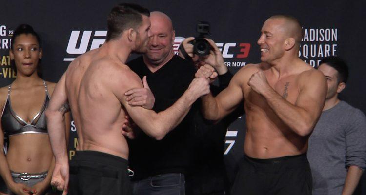 UFC 217: Bisping / St-Pierre + Garbrandt / Dillashaw + Jedrzejczyk / Namajunas Ceremonial Weigh-ins