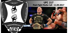 UFC Middleweight Champion Georges St-Pierre UFC 217 Post-Fight Media Call