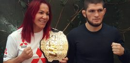 (360° VR / 4K) Champ Cris Cyborg + Khabib Nurmagomedov Preview UFC 219 Fights With Holm + Barboza