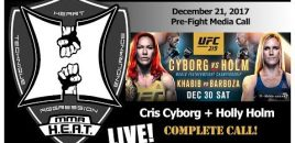 UFC 219: Cyborg vs Holm Pre-Fight Media Call