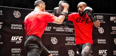 UFC Champ Demetrious Johnson Works Out For Fans Before UFC 227 Rematch With Henry Cejudo