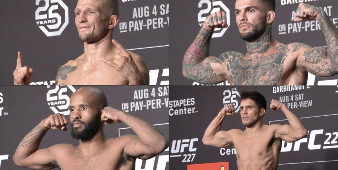UFC 227: Dillashaw vs Garbrandt Official Morning Weigh-ins (LIVE! / HD)