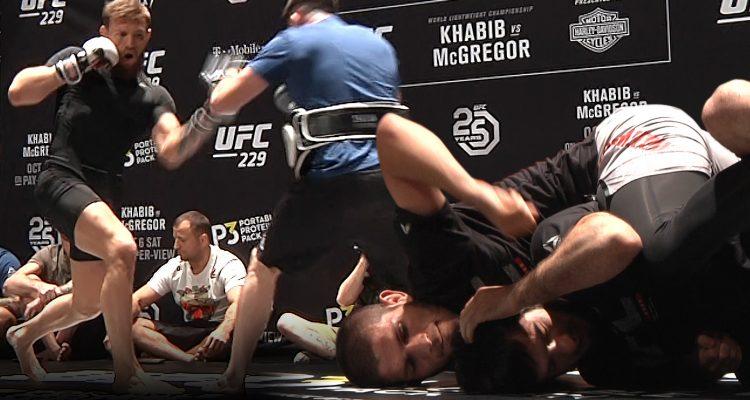 UFC 229 Workouts: Nurmagomedov + McGregor + Ferguson + Pettis (LIVE!)