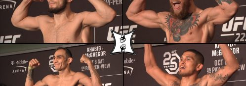 Official UFC 229 Weigh-ins: Nurmagomedov vs McGregor (LIVE! / HD)