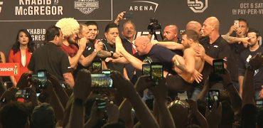 Ceremonial UFC 229 weigh-ins: Khabib Nurmagomedov vs Conor McGregor