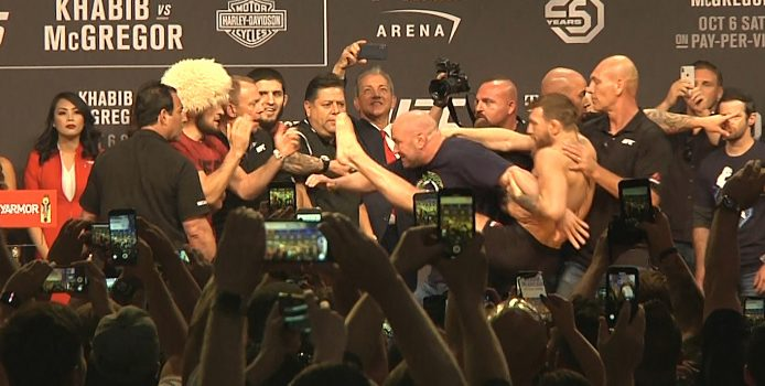 Ceremonial UFC 229 weigh-ins: Khabib Nurmagomedov vs Conor McGregor