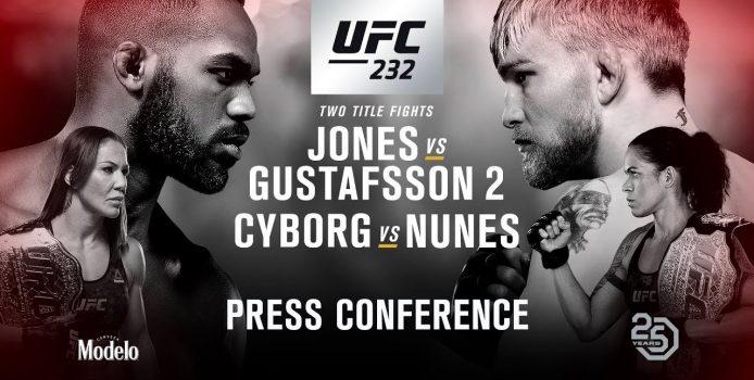 UFC 232: Jones vs Gustafsson 2 Press Conference (LIVE)