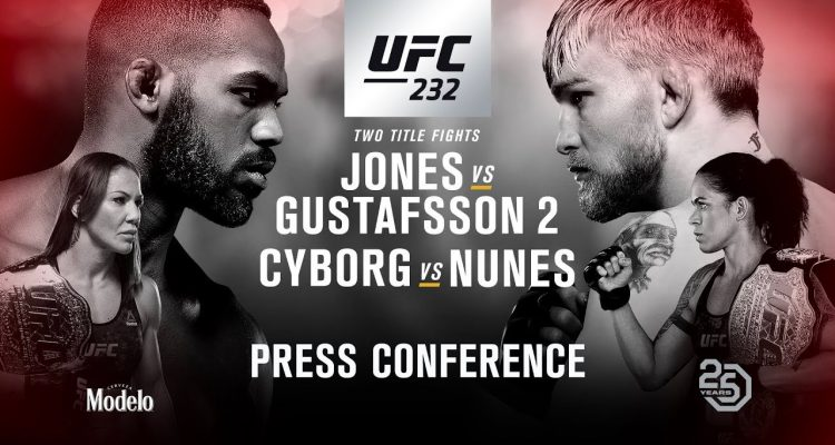 UFC 232: Jones vs Gustafsson 2 Press Conference (LIVE)