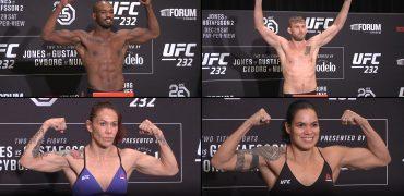 UFC 232: Jones vs Gustafsson 2 Official Morning Weigh-ins (LIVE! / HD)