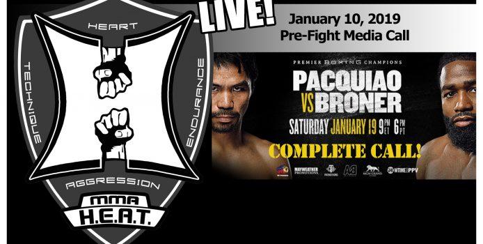 Pacquiao vs Broner WBA Welterweight World Championship Pre-Fight Media Call (LIVE! / 10:30am PT)