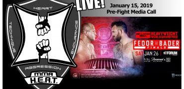 Bellator 214: Fedor vs. Bader Pre-Fight Media Call (LIVE! / 10:00am PT)