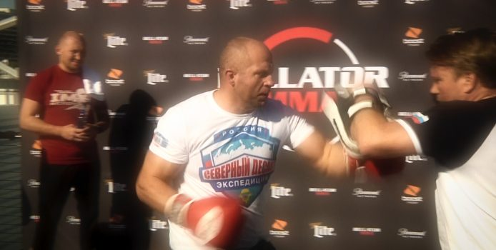 Fedor Emelianenko Shows Off Legendary Power At Bellator 214 Open Workout Before Bader Fight