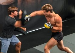 """""""Super"""" Sage Northcutt Hits Pads + Rolls With Urijah Faber At One Championship's LA Open Workouts"""