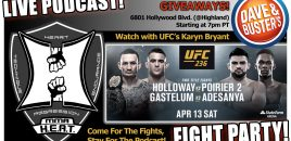 MMA H.E.A.T. UFC 236 Watch Party + LIVE Podcast