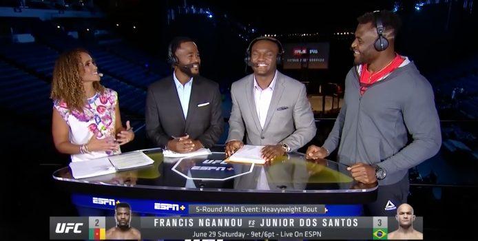 ESPN: Francis Ngannou Speaks To Karyn Bryant, Rashad Evans + Kamaru Usman About Fighting JDS