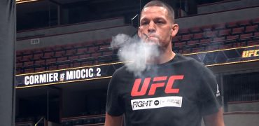 Nate Diaz Smokes CBD Before Anthony Pettis Fight At UFC 241